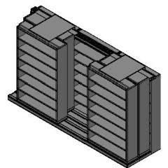 "Letter Size Sliding Shelves - 3 Rows Deep - 7 Levels - (48"" x 12"" Shelves) - 148"" Total Width"
