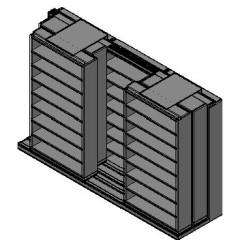 "Letter Size Sliding Shelves - 3 Rows Deep - 8 Levels - (48"" x 12"" Shelves) - 148"" Total Width"