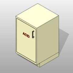 Acid Storage Powder Coated Steel Lab Base Cabinet 1 Small