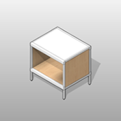 ADA-Compliant Full Shelf Laminate Console Small