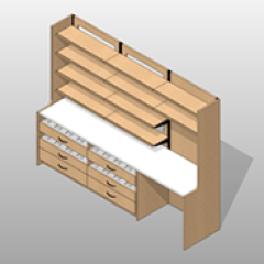 ADA-Compliant Laminate Pharmacy Casework Kit Extra-Wide Small
