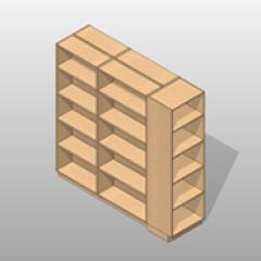ADA-Compliant Laminate Pharmacy Storage Cabinets Option 6 Small
