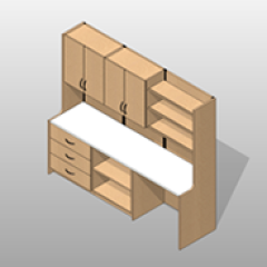 ADA-Compliant Laminate Wide Pharmacy Casework Option 4 Small