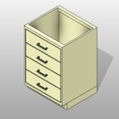ADA-Compliant Powder-Coated-Steel Lab Base Drawers Cabinet 1 Small