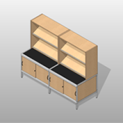 ADA Accessible Laminate Wide Mail-Room Casework Kit Option 3 Small