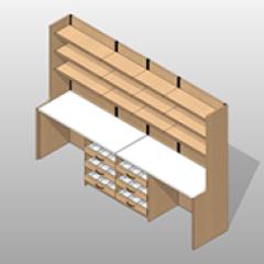 ADA Compliant Laminate Large Pharmacy Casework Kit Option 1 Small