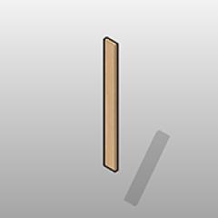 ADA Compliant Laminate Wall Cabinet Filler Small