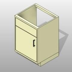 ADA Compliant PCS Lab Base Cabinet Sink 1 Small