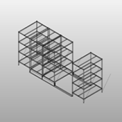 Bottom Track Mobile Wire Shelving Small