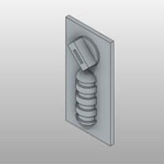 Brushed Nickel Mechanical Lock 4 Digit Dial Small