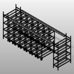 Chrome Top Track Mobile Wire Shelving Small