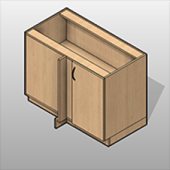 Corner Door Plastic Laminate Base Cabinet Right Hinge Small