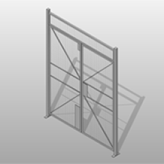 Double Hinged Door Wire Powder Coated Steel Partition Small