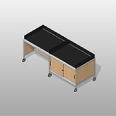 Extra Wide Laminate Mail-Room Casework Kit Small