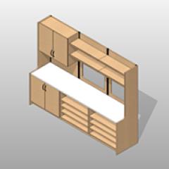 Extra Wide Laminate Pharmacy Casework Kit Option 8 Small