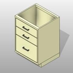 File Drawers PCS Lab Base Cabinet 1 Small