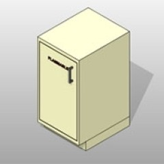 Flammable Storage PCS Lab Base ADA-Compliant Cabinet 1 Small