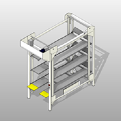 Front-Load Powder-Coated-Steel Bed-Lift Small