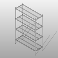 Heavy Duty Chrome Mobile Wire Shelving Small