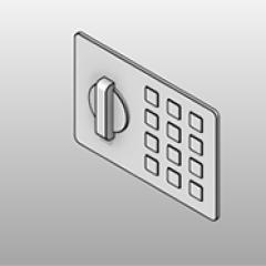 Keyless Digital Lock Mini Pad Small