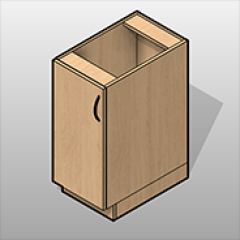 Laminate 1 Door Base Cabinet Left Hinge Small