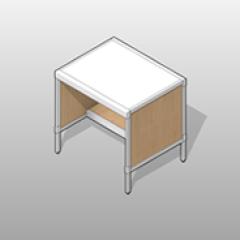 Laminate Aluminum Frame Half Shelf Console Small