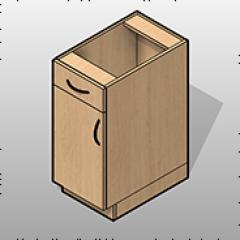 Laminate Base Cabinet 1 Door 1 Drawer Small