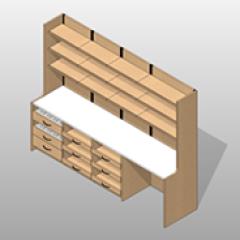 Laminate Extra Wide Pharmacy Casework Kit Option 1 Small