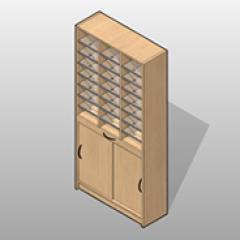 Laminate Freestanding Sorter Bottom Storage Unit Small