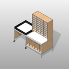 Laminate Mail-Room Casework Kit On Wheels ADA-Compliant Small