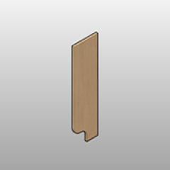 Laminate Pharmacy Above Work Surface End Panel Small