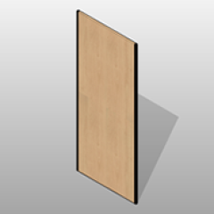 Laminate Pharmacy Back Attachment Panel Base Cabinet Small