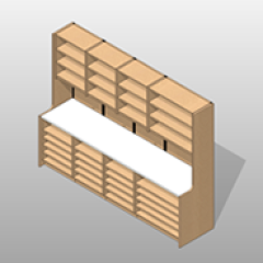 Laminate Pharmacy Casework Kit Option 3 Extra Wide Small