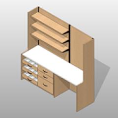 Laminate Pharmacy Casework Kit Option 4 Small
