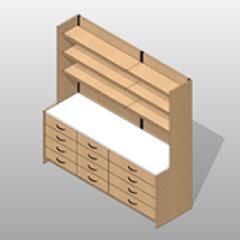 Laminate Pharmacy Casework Kit Option 5 Small