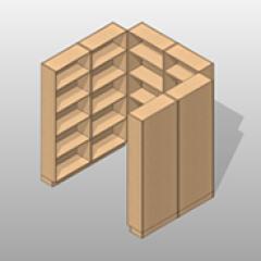 Laminate Pharmacy Casework Kit Option 7 Small