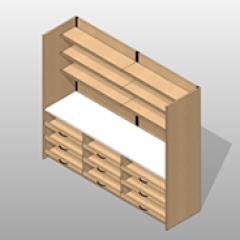 Laminate Wide Pharmacy Casework Kit Option 2 Small