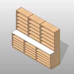 Laminate Wide Pharmacy Casework Kit Option 6 Small