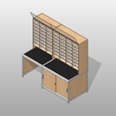 Mail-Room Casework Wide Storage ADA-Compliant Small