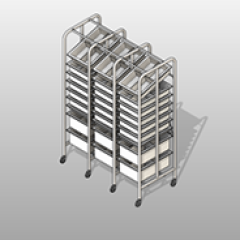 Medical Supply PC Steel Storage Rack Small