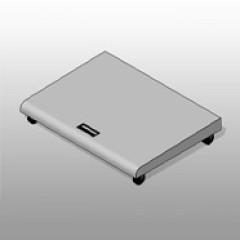 Mobile PCS Floor Storage Workstation ADA-Compliant Small