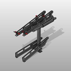 Multi-Level PC Steel Bike Rack Small