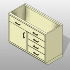 Multi Steel Lab Base Cabinet ADA-Accommodating Small