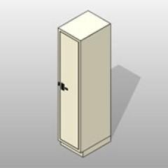 One Column Painted Steel Evidence Locker 1 Small