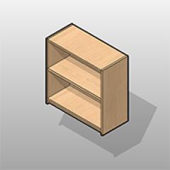 Open Laminate Wall Cabinet ADA-Compliant Small