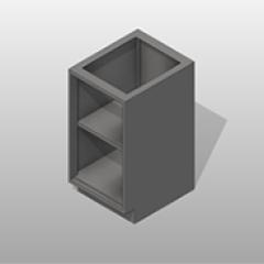 Open SST Base Cabinet 1 Adjustable Shelf Small