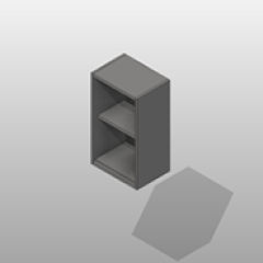 Open SST Wall Cabinet 1 Adjustable Shelf Small