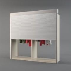 PCS 4 Post Wide Roll Down Garment Rack Small