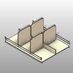 PCS Bin Shelf Assembly 4 Post Shelving Small
