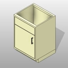 PCS Fume Hood Lab Base Cabinet 1 Small